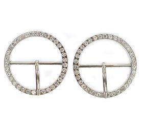 Catarame Metalice Catarame Metalice cu Strasuri, diametru 3.5 cm (10 bucati/punga)Cod:N10645
