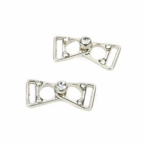 Catarama din Metal, 40 mm (100 bucati/pachet)Cod: 0321-6053-40MM Catarame Metalice cu Strasuri (10 perechi/punga)Cod:N11078