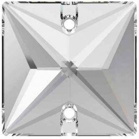 Cristale de Cusut Swarovski, 12.5x13.6 mm, Culoare: Crystal (1 bucata)Cod:  3708 Cristale de Cusut Swarovski, 16 mm, Culori: Crystal (1 bucata)Cod: 3240