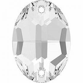 Pandantiv Swarovski, 28 mm, Culoare: White Opal (1 bucata)Cod: 6106-MM28 Cristale de Cusut Swarovski, 24x17 mm, Culoare: Crystal (1 bucata)Cod: 3210