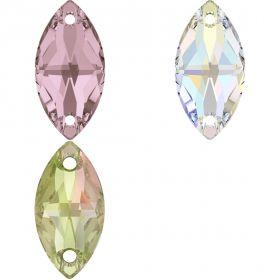 Cristale de Lipit, 12.5 mm, Culoare: Light Siam (1 bucata)Cod: 2720 Cristale de Cusut Swarovski, 12x6 mm, Diferite Culori (1 bucata)Cod: 3223
