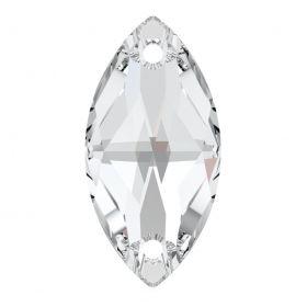 Cristale de Cusut Swarovski, 12.5x13.6 mm, Culoare: Crystal (1 bucata)Cod:  3708 Cristale de Cusut Swarovski, 18x9 mm, Culori: Crystal (1 bucata)Cod: 3223
