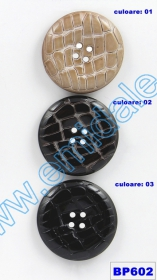 Nasturi Metalizati, cu Doua Gauri, din Plastic (100 bucati/pachet) Cod: 2620  Nasturi cu Patru Gauri BP602/72 (10 buc/pachet)