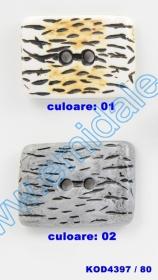 Nasturi Metalizati, cu Doua Gauri, din Plastic (100 bucati/pachet) Cod: 2620  Nasturi cu Doua Gauri KOD4397/80 (10 buc/pachet)