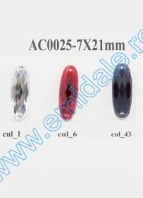 Strasuri de Cusut R11640, Marime: 13 mm, Culoare: 10 (100 buc/punga) Strasuri AC0025, Marime 7x21mm (100 buc/punga)