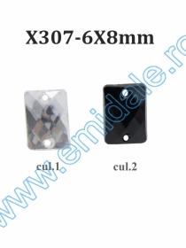 Strasuri X308, Marime 8x10 mm (100 buc/punga) Strasuri X307, Marime 6x8 mm (100 bucati/punga)