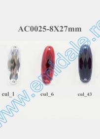 Strasuri de Cusut in Montura Metalica, 8 mm (100 buc/punga)Cod: R11781 Strasuri AC0025, Marime 8x27mm (100 buc/punga)