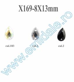 Strasuri de Cusut R11640, Marime: 13 mm, Culoare: 10 (100 buc/punga) Strasuri X169, Marimea 8x13 mm (100 buc/punga)