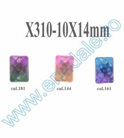 Strasuri de Cusut R11640, Marime: 10 mm, Culoare: 04 (100 buc/punga) Strasuri X310, Marime 10x14 mm (100 bucati/punga)