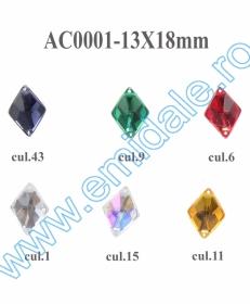 Strasuri R11803 - 12 mm (100 buc/punga) Strasuri AC0001, Marime 13x18 mm (100 bucati/punga)