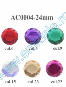 Strasuri AC0004, Marime 20 mm (100 bucati/punga) Strasuri AC0004, Marime 24 mm (100 bucati/punga)