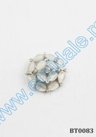 Nasturi Plastic cu Picior, Marime 21 mm (144 bucati/pachet)Cod: 57358/21MM Nasturi cu Picior BT0083, Albi (10 buc/pachet)