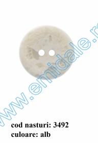 Nasturi Plastic cu Doua Gauri 0313-1283/36 (100 bucati/pachet) Nasturi cu Doua Gauri 3492/36  (100 buc/punga)