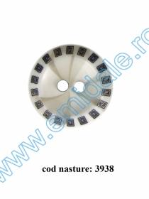 Nasturi Plastic  H275/48 (100 bucati/pachet) Culoare: Alb Nasturi cu Doua Gauri 3938/28  (100 buc/punga)