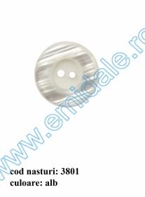 Nasturi cu Patru Gauri 0313-1629/32 (100 buc/punga) Culoare: Alb Nasturi cu Doua Gauri 3801/44 (50 buc/punga)