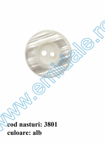 Nasture Plastic cu Picior 0311-0681/24 (100 bucati/punga) Nasturi cu Doua Gauri 3801/48 (50 buc/punga)