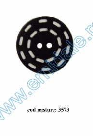 Nasturi Plastic cu Doua Gauri 0312-0111/48 (100 bucati/punga) Culoare: Maro Nasturi cu Doua Gauri 3573/54 (25 buc/punga)