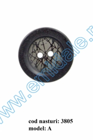 Nasture Plastic cu Picior 0311-0681/24 (100 bucati/punga) Nasturi cu Doua Gauri 3805/40 (50 buc/punga)