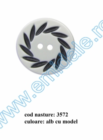 Nasturi cu Patru Gauri 0313-1300/32 (100 buc/punga) Culoare: Alb  Nasturi cu Doua Gauri 3572/54 (25 buc/punga)