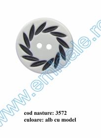 Nasturi cu Patru Gauri 0313-1629/32 (100 buc/punga) Culoare: Alb Nasturi cu Doua Gauri 3572/60 (25 buc/punga)
