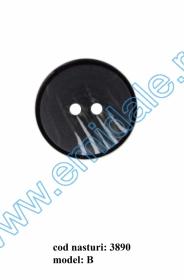 Nasturi Plastic cu Doua Gauri 0312-0111/48 (100 bucati/punga) Culoare: Maro Nasturi cu Doua Gauri 3890/36 (50 buc/punga)