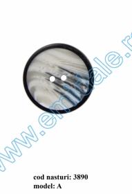 Nasture Plastic cu Picior 0311-0681/24 (100 bucati/punga) Nasturi cu Doua Gauri 3890/48 (50 buc/punga)