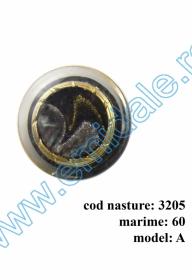 Nasturi cu Picior 0315-0291/12 (200 bucati/punga) Culori: Aurii si Argintii Nasturi cu Picior 3205, Marimea 60, Model A (10 buc/pachet)