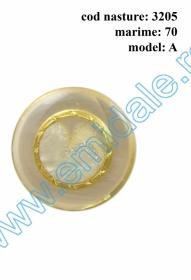 Nasturi cu Picior JU244, Marimea 24 (100 buc/pachet) Nasturi cu Picior 3205, Marimea 70, Model A (10 buc/pachet)
