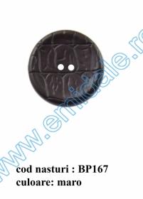 Nasturi Plastic  H275/48 (100 bucati/pachet) Culoare: Alb Nasturi cu Doua Gauri BP167/54 (25 buc/punga)