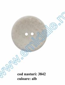 Nasturi cu Patru Gauri 0313-1393/48 (100 buc/punga) Culoare: Alb Nasturi cu Doua Gauri 3842/54 (25 buc/punga)