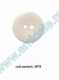 Nasturi Plastic  H275/48 (100 bucati/pachet) Culoare: Alb Nasturi cu Doua Gauri 3870/48 (50 buc/punga)