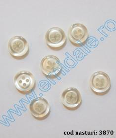 Nasture Plastic cu Picior 0311-0681/24 (100 bucati/punga) Nasturi cu Patru Gauri 3870/18 (500 buc/punga)