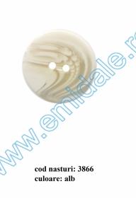Nasturi Plastic  H275/48 (100 bucati/pachet) Culoare: Alb Nasturi cu Doua Gauri 3866/48 (50 buc/punga)