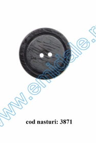 Nasture Plastic cu Picior 0311-0681/24 (100 bucati/punga) Nasturi cu Doua Gauri 3871/44 (50 buc/punga)