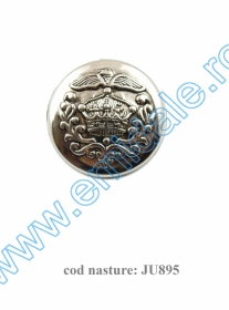 Nasturi A628, Marime 40 (100 buc/punga)  Nasture Plastic Metalizat JU895/40 (100 buc/punga)