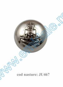 Nasturi cu Picior S241, Marimea 24 (100 buc/pachet) Nasture Plastic Metalizat JU467/24 (100 buc/punga)
