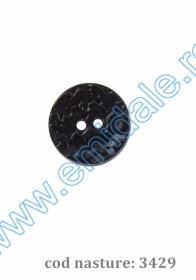 Nasturi Plastic  H275/48 (100 bucati/pachet) Culoare: Alb Nasturi cu Doua Gauri 3429/36 (100 buc/punga)