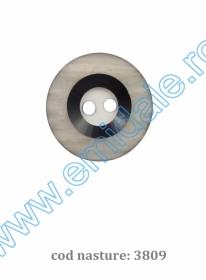 Nasturi Plastic cu Doua Gauri 0312-0111/40 (100 bucati/punga) Culoare: Maro Nasturi cu Doua Gauri 3809/40 (100 buc/punga)
