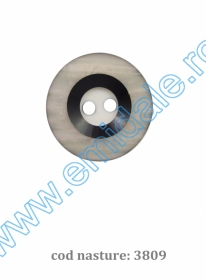 Nasturi Plastic  H275/48 (100 bucati/pachet) Culoare: Negru Nasturi cu Doua Gauri 3809/44 (100 buc/punga)
