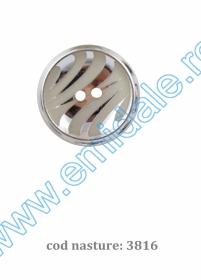 Nasturi Plastic  H275/48 (100 bucati/pachet) Culoare: Alb Nasturi cu Doua Gauri 3816/48 (50 buc/punga)