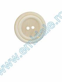 Nasturi Plastic cu Doua Gauri 0312-0575/48 (100 bucati/pachet) Nasturi cu Doua Gauri 4113/48 (50 buc/punga)