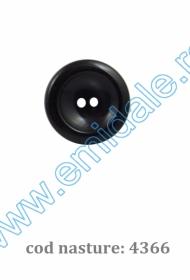 Nasture Plastic cu Picior 0311-1425/44 (100 bucati/punga)  Nasturi cu Doua Gauri 4366/44 (100 buc/punga)