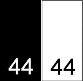 Etichete Tesute Marime: M (250 bucati/pachet) Etichete Tesute Marime: 44 (250 bucati/pachet)