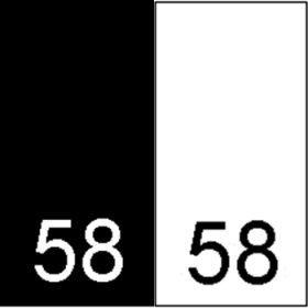 Etichete Tesute Marime: 5XL (250 bucati/pachet) Etichete Tesute Marime: 58 (250 bucati/pachet)