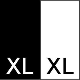 Etichete Tesute Marime: 34 (250 bucati/pachet)   Etichete Tesute Marime: XL (250 bucati/pachet)