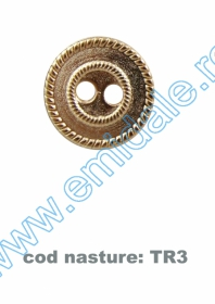 Nasture Plastic Metalizat JU895/32 (100 buc/punga) Nasturi cu Doua Gauri TR3/20 (100 buc/pachet)