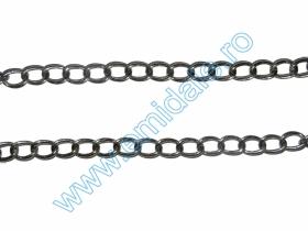 Lant Ornamental 10 mm  (10 m/rola) Culoare: Negru Lant Ornamental (25 m/rola) Culoare: Argintiu