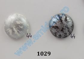Nasturi din Metal cu Picior, Decorati cu Strasuri, 25 mm  (10 buc/pachet) Cod: N19329 Nasturi cu Picior 1029, Marimea 44 (100 buc/pachet)