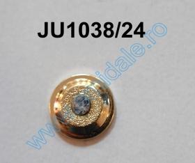 Nasturi cu Picior JU121, Marimea 20, Aurii  (100 buc/pachet) Nasturi cu Picior JU1038, Marimea 24, Aurii (100 buc/pachet)