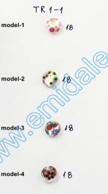 Nasturi Plastic cu Picior, Marime 28 Lin (100 bucati/pachet)Cod: PA28/28 Nasturi cu Picior TR1-1, Marimea 18 (100 buc/pachet)